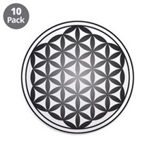 "flower of life3 3.5"" Button (10 pack)"