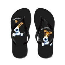 Wire Fox Terrier IAAM Flip Flops