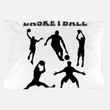 Basketball Silhouettes Pillow Case