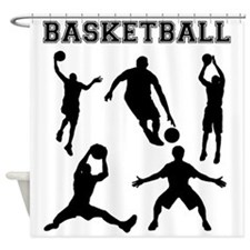 Basketball Silhouettes Shower Curtain