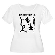 Basketball Silhouettes Plus Size T-Shirt