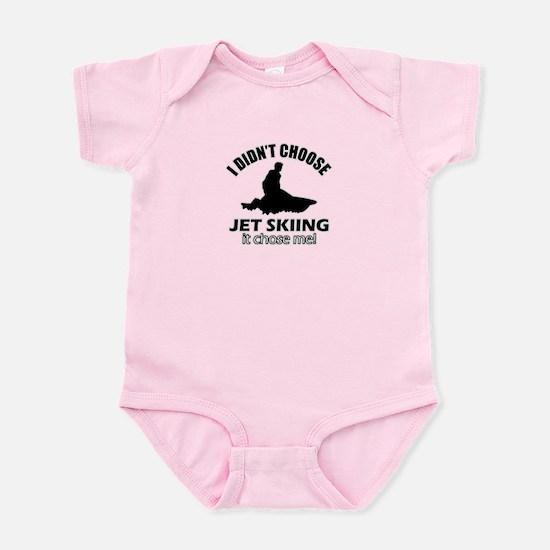 I didn't choose skiing Infant Bodysuit