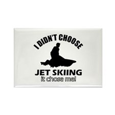 I didn't choose skiing Rectangle Magnet