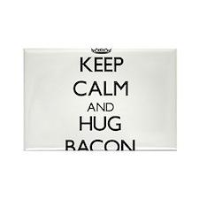 Keep calm and Hug Bacon Magnets