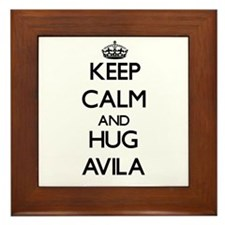 Keep calm and Hug Avila Framed Tile