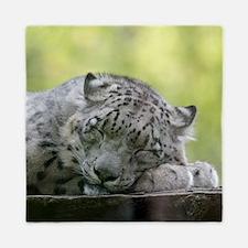 Funny Snow leopard Queen Duvet