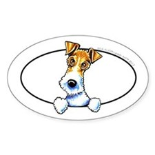 Wire Fox Terrier Peeking Decal