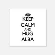 Keep calm and Hug Alba Sticker