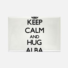 Keep calm and Hug Alba Magnets