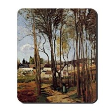 Pissarro - A Village through the Trees Mousepad