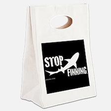 Stop Shark Finning Awareness Logo Canvas Lunch Tot
