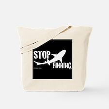Stop Shark Finning Awareness Logo Tote Bag