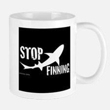 Stop Shark Finning Awareness Logo Mugs