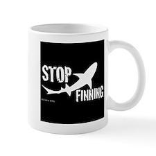 Stop Shark Finning Awareness Logo Mugs
