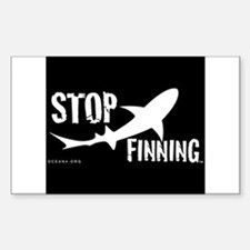 Stop Shark Finning Awareness Logo Decal