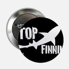 """Stop Shark Finning Awareness Logo 2.25"""" Button"""