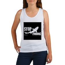 Stop Shark Finning Awareness Logo Tank Top