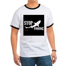 Stop Shark Finning Awareness Logo T-Shirt