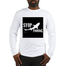 Stop Shark Finning Awareness Logo Long Sleeve T-Sh