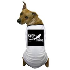 Stop Shark Finning Awareness Logo Dog T-Shirt