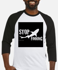 Stop Shark Finning Awareness Logo Baseball Jersey