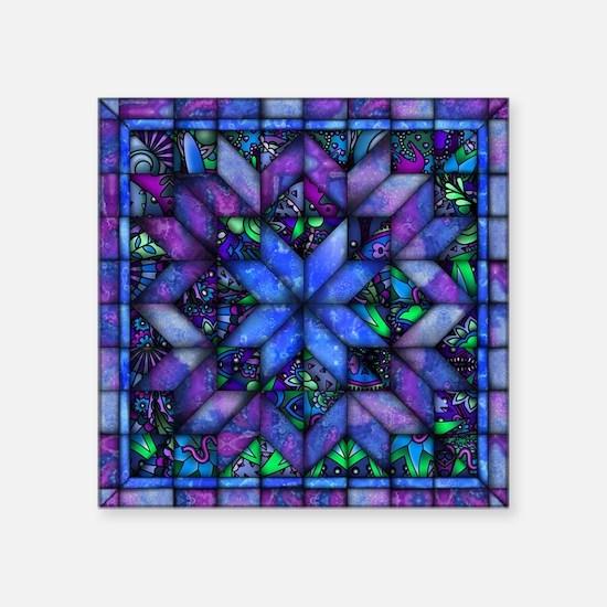 Blue Quilt Sticker