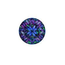 Blue Quilt Mini Button (10 pack)