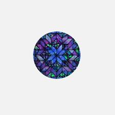 Blue Quilt Mini Button