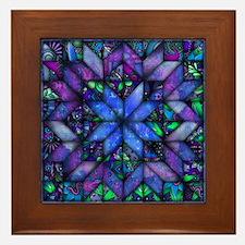 Blue Quilt Framed Tile