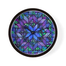 Blue Quilt Wall Clock