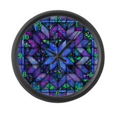 Blue Quilt Large Wall Clock