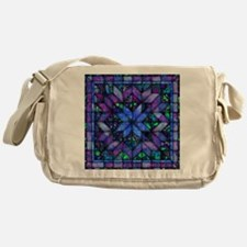 Blue Quilt Messenger Bag