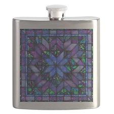 Blue Quilt Flask