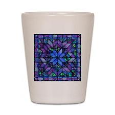 Blue Quilt Shot Glass
