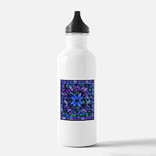 Blue Quilt Water Bottle