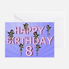 8th birthday card with Flower fairies Greeting Car