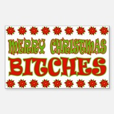 Merry Christmas Bitches Decal