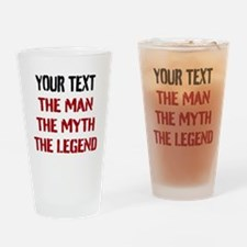 Man Myth Legend | Personalized Drinking Glass