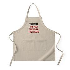 Man Myth Legend | Funny Beige Apron For Men