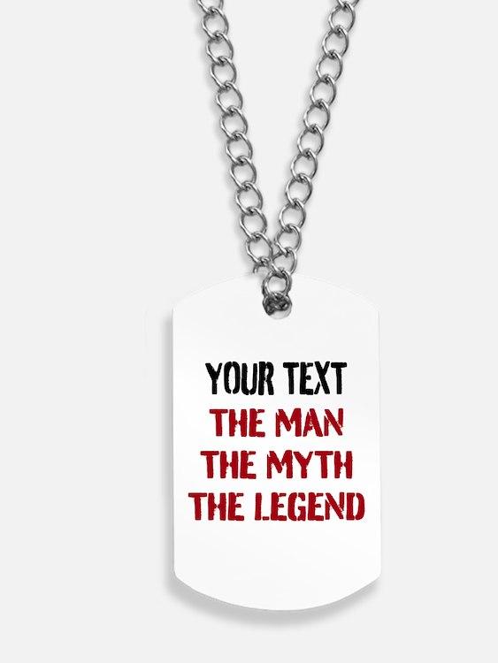 Man Myth Legend | Personalized Dog Tags