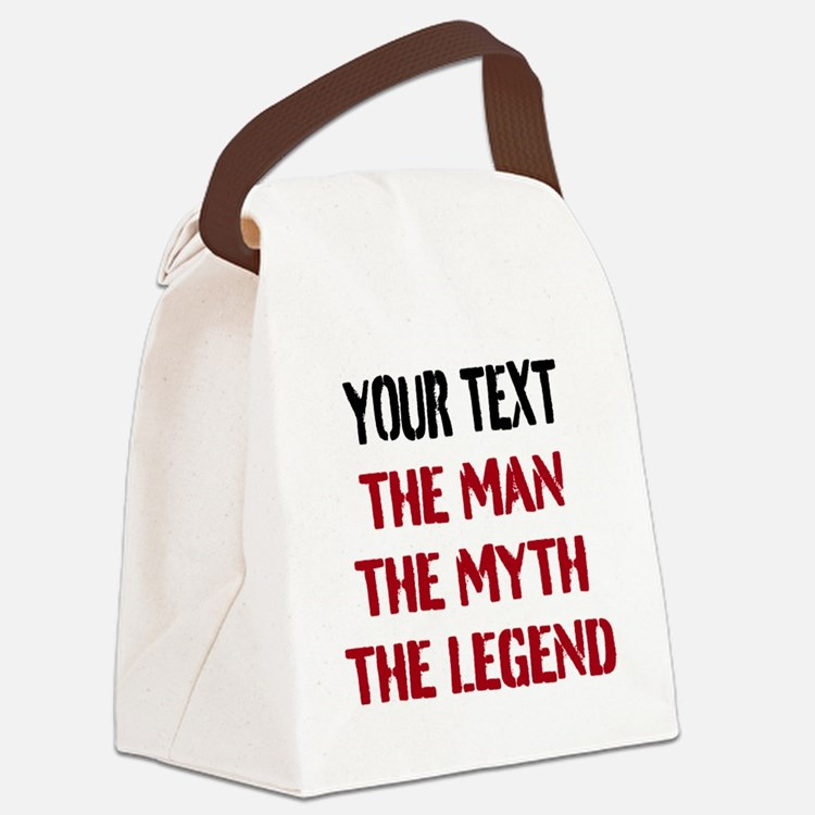 Man Myth Legend | Personalized Canvas Lunch Bag