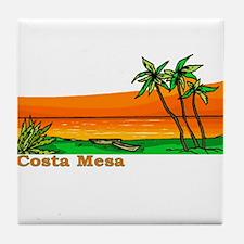 Costa Mesa, California Tile Coaster