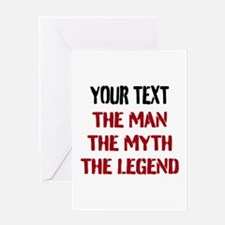 Man Myth Legend | Personalized Greeting Cards
