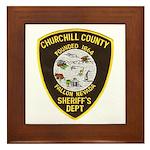 Churchill County Sheriff Framed Tile