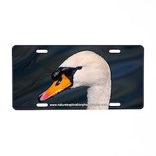 Mute Swan Portrait Aluminum License Plate