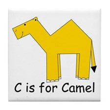 C is for Camel Tile Coaster