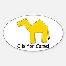 C is for Camel Oval Decal
