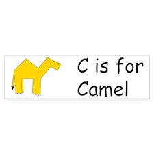 C is for Camel Bumper Bumper Sticker