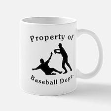 Property Of Baseball Dept Mugs