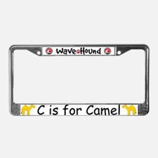 C is for Camel License Plate Frame